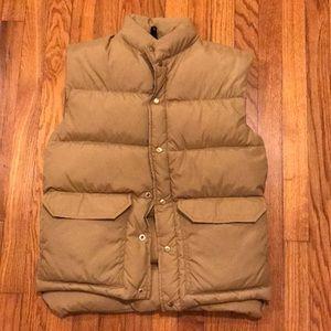 Vintage Camp 7 Brown Puffer Vest